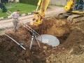 Pose cuve récupération eau pluie